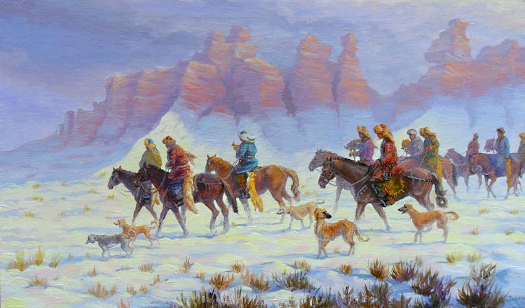 Казахская охота