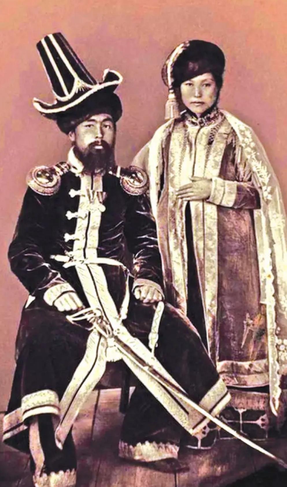 Джангир хан со своей свитой в Казани.
